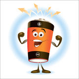 Battery_Cartoon Stock Photography
