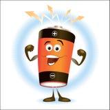Battery_Cartoon Stockfotografie