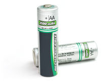 Battery cells AA size Royalty Free Stock Images