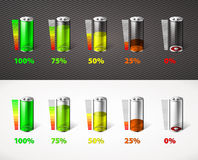Battery charge Royalty Free Stock Images