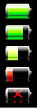 Battery charge indicator royalty free stock photography