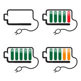 Battery with charge indicator Stock Photo