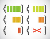 Battery charge indicators royalty free illustration