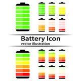 Battery charge level indicator icons Royalty Free Stock Photography