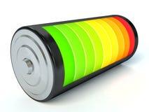 Battery charge level indicators isolated on white Stock Image