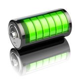 Battery charge level indicators  on white. Charging. Royalty Free Stock Photography
