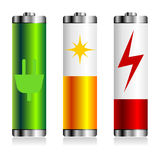 Battery charge symbols Stock Photo