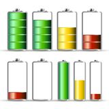 Battery Charge Symbols. Energy Icon. Vector Power Level Indicator Stock Photos