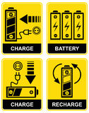 Battery charge - vector sign Royalty Free Stock Photo