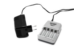 Battery charger for AA size Stock Images