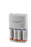 Battery Charger with Batteries Royalty Free Stock Photo