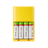 Battery charger with batteries Royalty Free Stock Photos