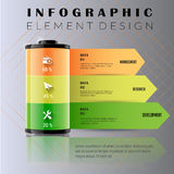 Battery charger business.Template for infographic options. Can b Royalty Free Stock Images