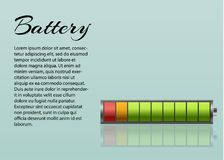 Battery charger with finger low batteries and indicators, high vector isolated.vector illustration.  Stock Photography