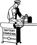 Battery Charging Royalty Free Stock Photos