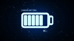 Battery charging icon illustration, rechargeable energy power co Royalty Free Stock Images