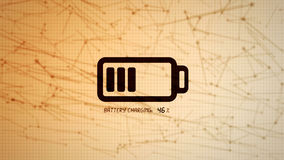 Battery charging icon illustration, rechargeable energy power co Stock Photography