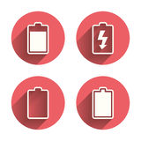 Battery charging icons. Electricity symbol Stock Image