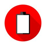 Battery charging icons Stock Images