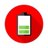 Battery charging icons Stock Photos