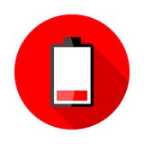 Battery charging icons Stock Photography