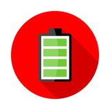 Battery charging icons Royalty Free Stock Images