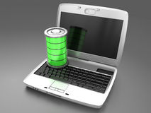 Battery charging in a laptop Royalty Free Stock Photo