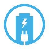 Battery charging plug icon. On white background Stock Photography