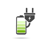 Battery charging vector icon Royalty Free Stock Image