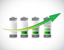 Battery chart graph illustration design Stock Photo