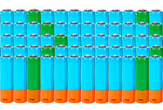 Battery of АА. Collage Royalty Free Stock Photos