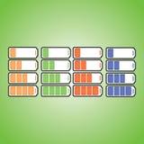 Индикатор батарейки royalty free stock photography