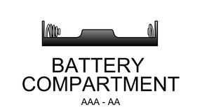 Battery compartment icon. Battery compartment icon, stilo type (AA - AAA Royalty Free Stock Photography
