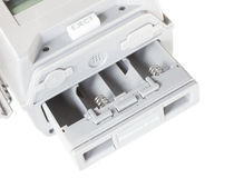 Battery compartment Royalty Free Stock Photography