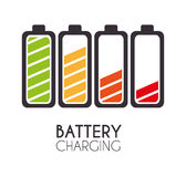 Battery design. Stock Images