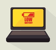 Battery design. Royalty Free Stock Photo