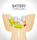 Battery design. Stock Photos