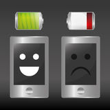 Battery design, energy and power concept, editable vector Royalty Free Stock Photos