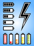 Battery and electricity power icon Stock Image