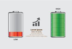 Battery element infographic template. Design concept for presentation, graph, diagram and chart. Vector illustration Royalty Free Stock Photos