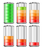 Battery. The battery energy on the background Royalty Free Stock Photo