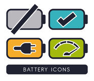 Battery energy design. Royalty Free Stock Photo