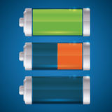 Battery energy design. Royalty Free Stock Photography