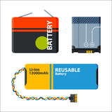 Battery energy electricity tool vector illustration. Stock Photography