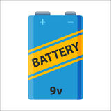 Battery energy electricity tool vector illustration. Royalty Free Stock Images