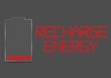 Battery Energy Indicator Icon Recharge Energy Royalty Free Stock Photos