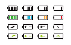 Battery Energy Indicator Icons Royalty Free Stock Image
