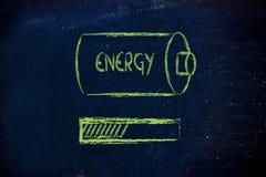 Battery with energy progress bar loading Royalty Free Stock Photo
