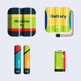 Battery energy tool electricity charge fuel positive supply and generation component alkaline industry. Battery energy tool electricity charge fuel positive royalty free illustration