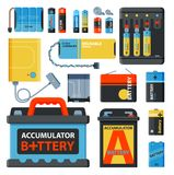 Battery energy save accumulator vector tools electricity charge fuel positive supply and isposable battery component. Battery energy tool electricity charge fuel Stock Images